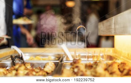 Customer In Restaurant Blur Background With Bokeh7
