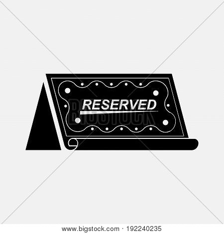Icon table booked reservation reserve a table the icon for restaurants cafes fully editable image