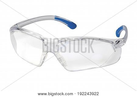 Modern Protection glasses on white with clipping path