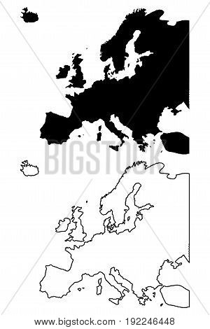 Map of Europe vector illustration ,  europe