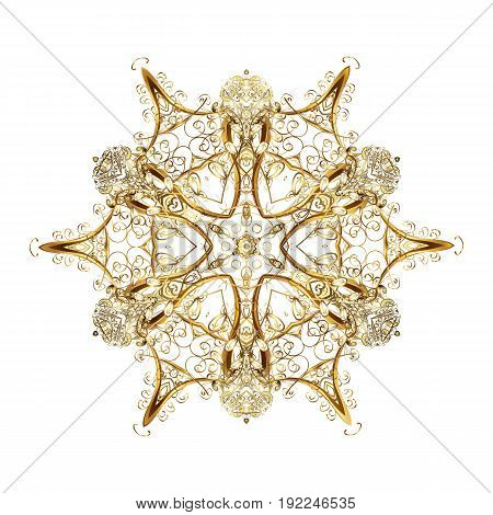 Abstract snowstorm with snowflakes. Blow snow texture pattern on white background. Windstorm. Winter background. With golden snowflakes. Winter mood background. Winter weather.