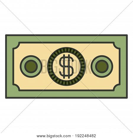 colorful silhouette of money bill vector illustration