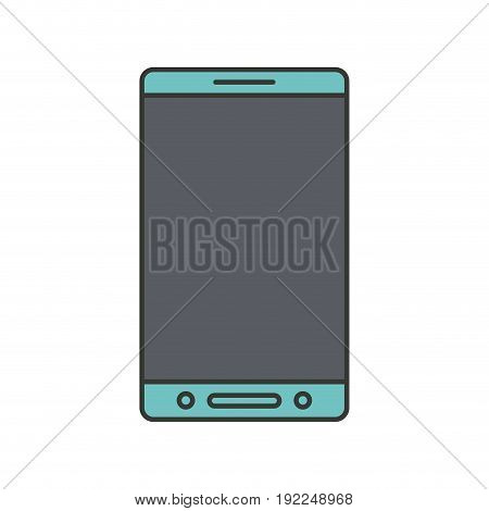 colorful silhouette of smartphone icon vector illustration