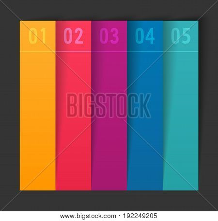 Infographic design with paper creative lines. Vector illustration.