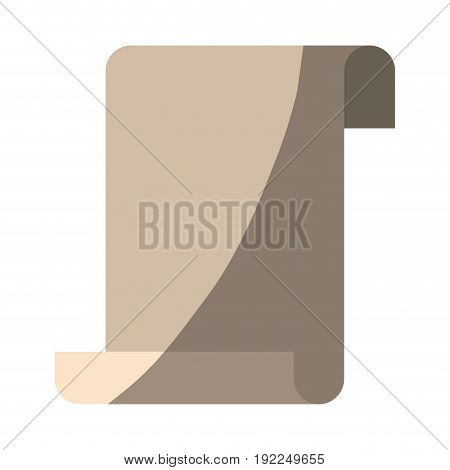 colorful silhouette of continuously sheet in blank without contour vector illustration