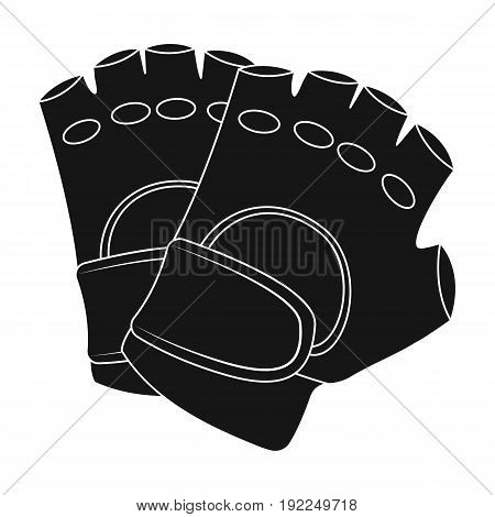 Protective gloves.Paintball single icon in black style vector symbol stock illustration .