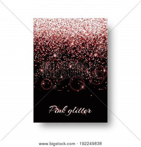 Bling background with light burst. Sparkle vector on a black backdrop.