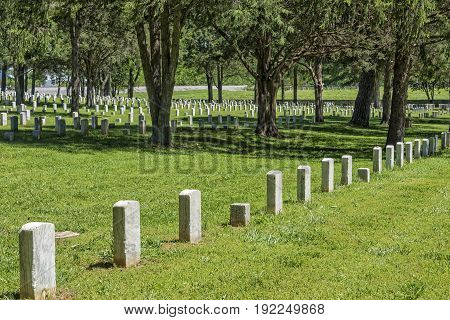 Stones River National Battlefield And Cemetery In Murfreesboro Tennessee