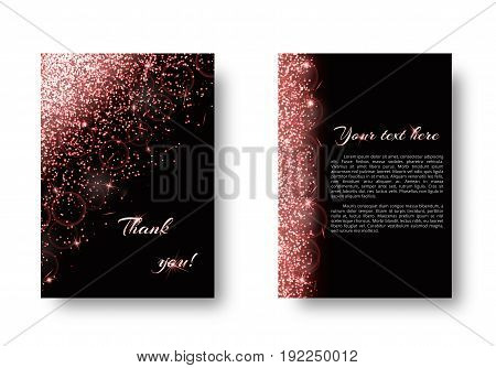 Foil background with bright light. Burst vector on a black backdrop.
