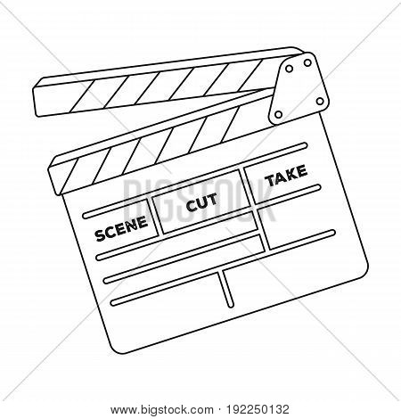 Movie cracker.Making movie single icon in outline style vector symbol stock illustration .