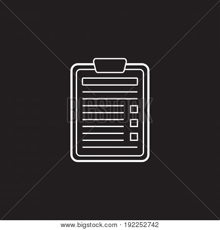 Application Form line icon, Edit outline vector logo illustration, linear pictogram isolated on black