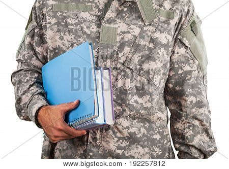 Man notebook military force notebooks computer day