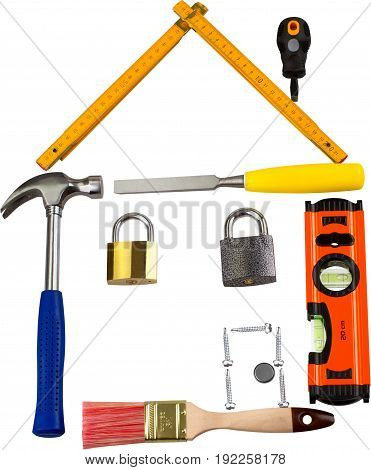 Sign building house tool tools graphic element