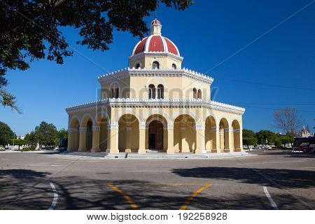 Havana Cuba - January 21 2017: Necropolis Cristobal Colon.The main cemetery of Havana. The Colon Cemetery was founded in 1876 in the Vedado neighbourhood of Havana