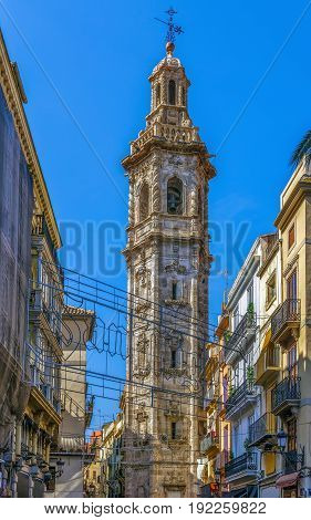 Santa Catalina is a Gothic style Roman Catholic church located in the city of Valencia Spain.Bell tower