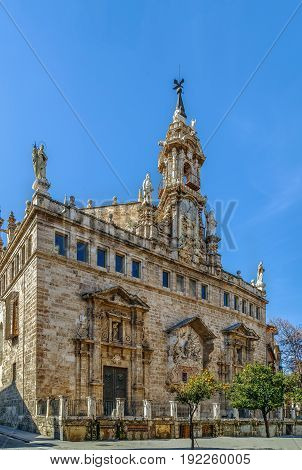 Church Santos Juanes Valencia Spain. Rear (apse) facade.
