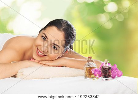 Woman relaxing massage body care hand massage spa woman woman spa