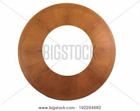 HDR Photo image of a Round wooden frame