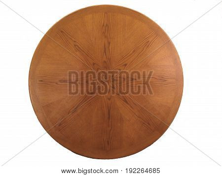 HDR Photo image of a Round wooden shield