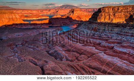 Alstrom Point, Lake Powell, Page, Arizona, United States..