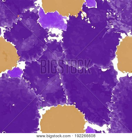 Purple texture. Vector murble background. Watercolor hand drawn marbling illustration, aqua print. Bright colorfull stains. Cover design, trendy graphic, artistic effect. Abstract painting template.