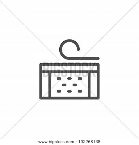 Insulation line icon isolated on white. Vector illustration
