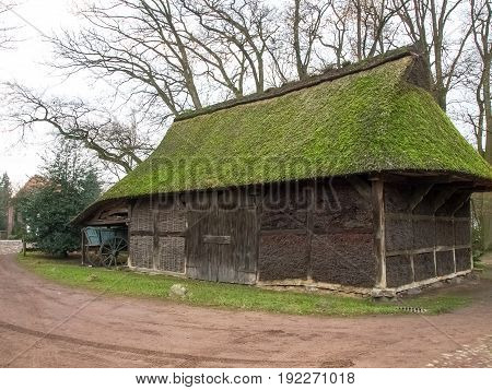 Bad Zwischenahn, Germany - December 5, 2014: Old peasant homes in the open-air museum of the old peasant homes