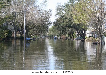Hurricane Katrina Flood In New Orleans