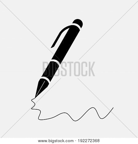 icon pen writing in the document fully editable image