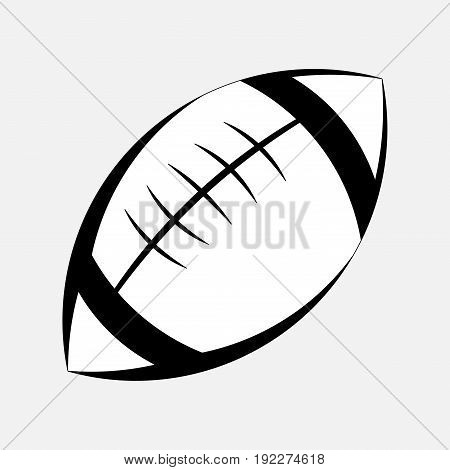pictogram of American football the game of rugby logo an American sport sport fully editable image
