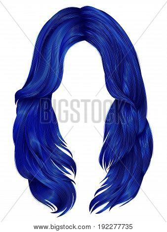trendy woman long hairs  colors . beauty fashion .  realistic  graphic 3d