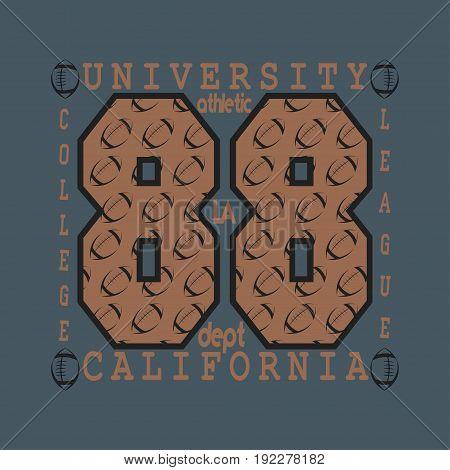 Los Angeles CA fashion Typography sport emblem design