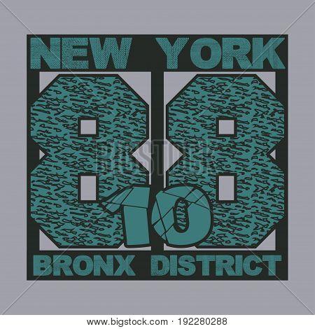 New York typography t-shirts graphic design printing New York original design clothing design graphic design