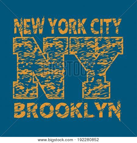 New York typography design graphic t-shirt printing man NYC original design clothing clothing graphic design emblem