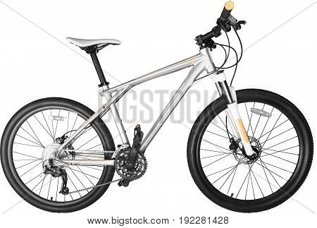 White mountain bike model background isolated