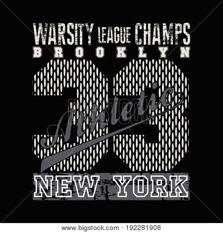 New York typography athletic design graphic t-shirt print clothing graphic design