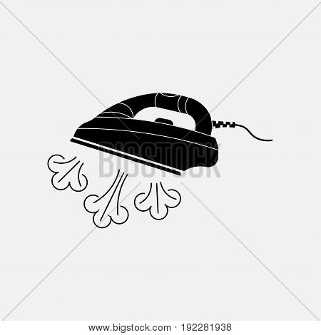 icon steam iron for laundry linen fully editable image