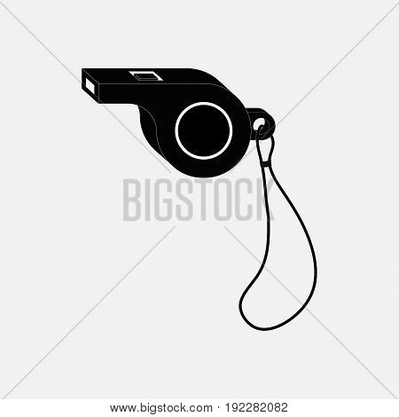 icon whistle sporting events a judge coach fully editable image