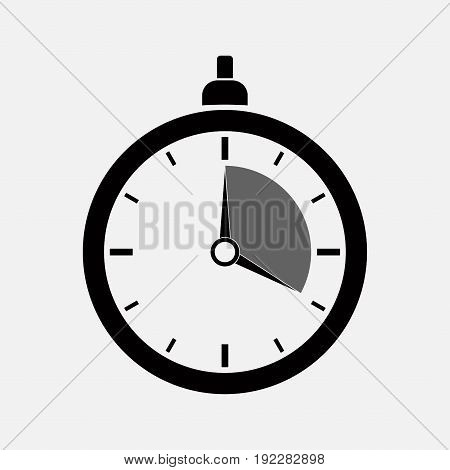 dark icon stopwatch original design timer editable image
