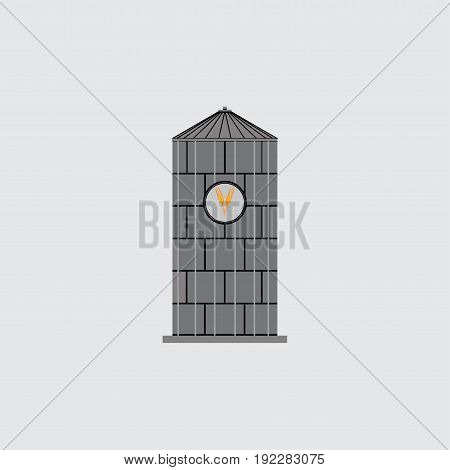 icon silos emblem for the company saving grain agriculture fully editable image