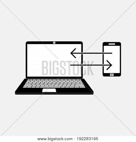 icon data transfer data exchange fully editable image