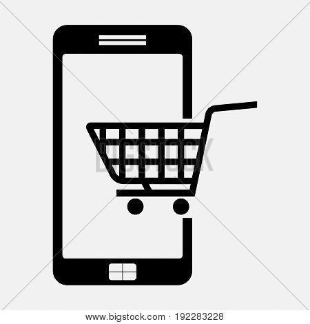 icon e commerce buying on phone fully editable image