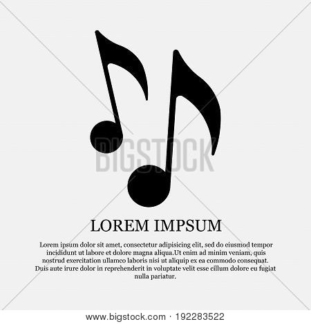 icon music notes sound flat style fully editable image