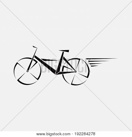 symbol of a bicycle logo movement from the bike editable image