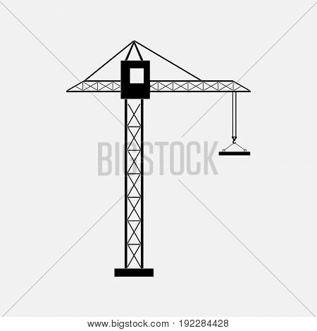 silhouette of a construction crane construction of buildings the icon cranes tower cranes fully editable image