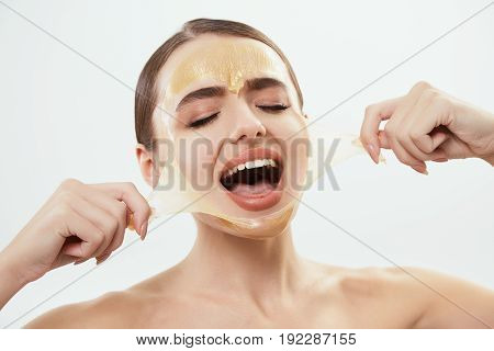 Model With Yellow Mask