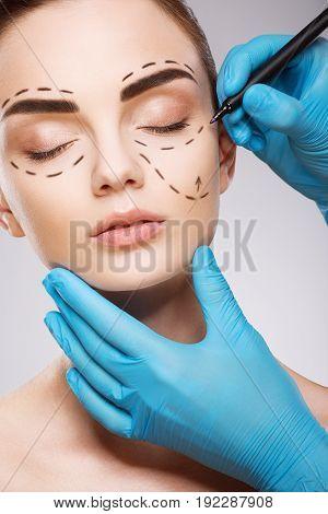 Patient At Plastic Surgery