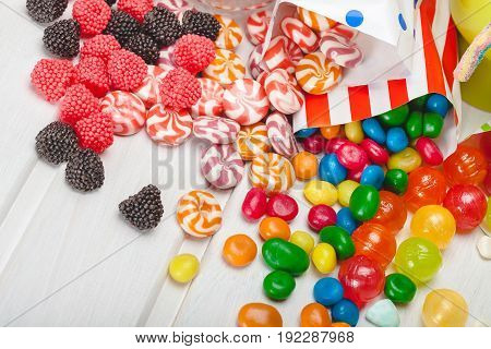 Background shapes balance snacks products additives desserts