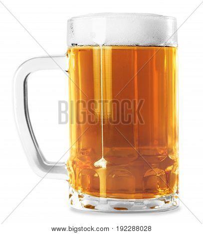 White isolated mug beer bar pub yellow