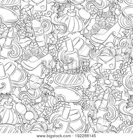 Seamless doodle hand drawn vector abstract background, texture, pattern, wallpaper, backdrop.